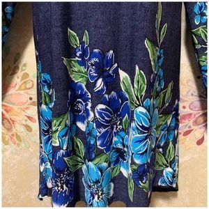 mélange posh Tops - Cold Shoulder / Bell Sleeves Floral Tunic Top